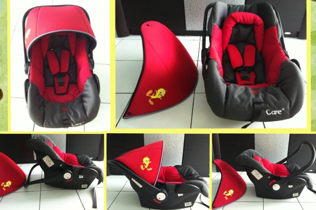 Car Seat Bayi merah